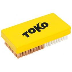 Šepetys Toko Base brush combi Nylon/Copper