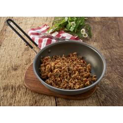 Sublimuotas maistas  Jautienos befstrogenas su ryžiais